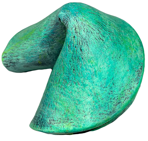 Light Blue-Green Smooth Fortune Cookie