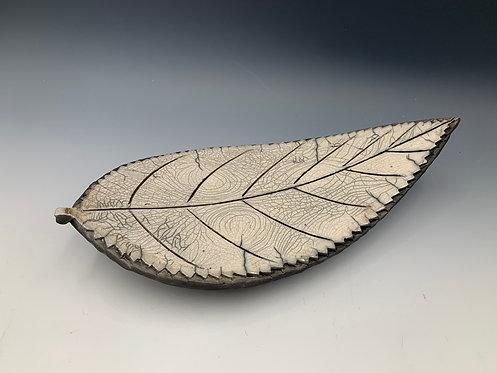 Raku Leaf Plate
