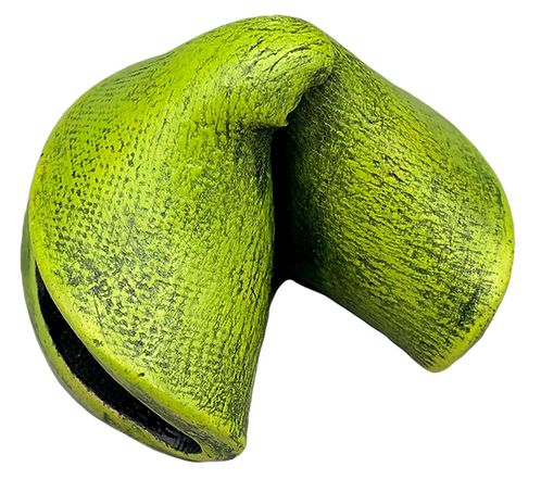Lime Green Smooth Fortune Cookie