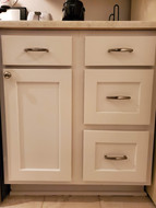 Custom built doors for existing cabinets