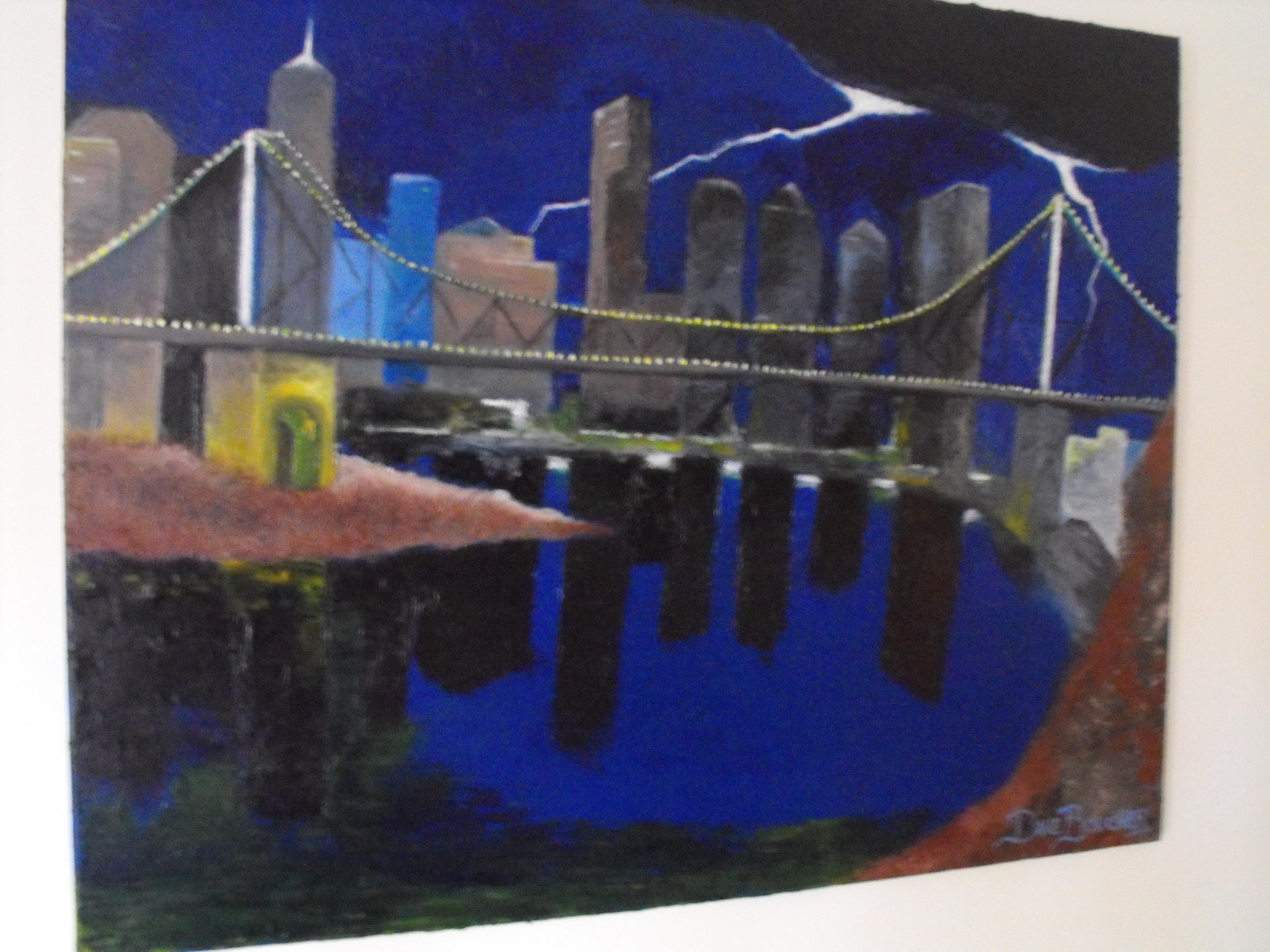 Copy (2) of Copy of Painting 39 Brisbane Skyline