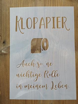 Schablone-Klopapier A4