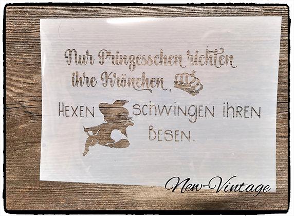 """Schablone"""" nur Prinzesschen..."""" A4"""