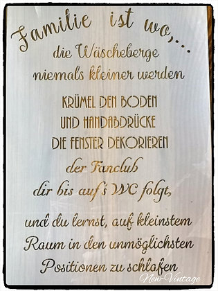 """Schablone """"Familie ist wo.."""" A3"""