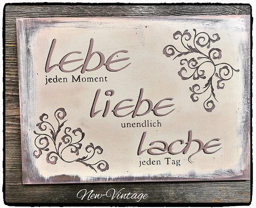 "Schablone ""Lebe,Liebe,Lache"" A4"
