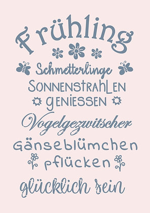 "Schablone "" Frühling"" A4"