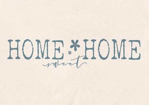"""Schablone """" Home sweet Home 2"""""""