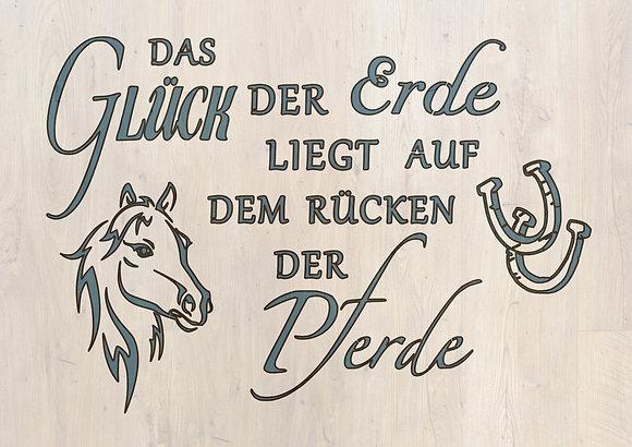 """Schablone """" Das Gück der Pferde"""" A4"""
