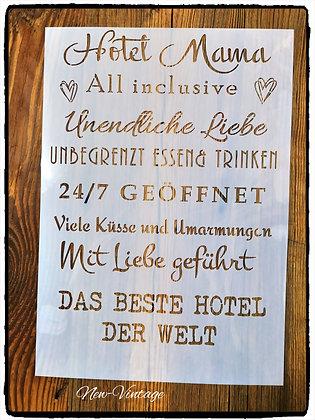 "Schablone "" Hotel Mama"" A4"