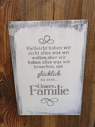 Schablone- Unsere Familie A3