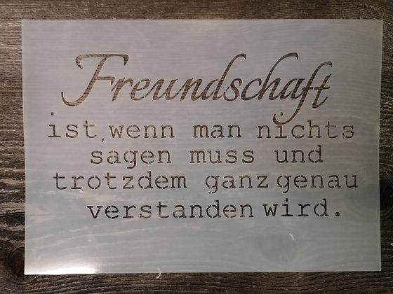 """Schablone """"Freundschaft"""" A4"""