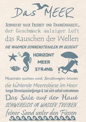 "Schablone "" Das Meer"" A3"