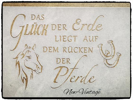 """Schablone """" Das Glück der Pferde"""" A4"""