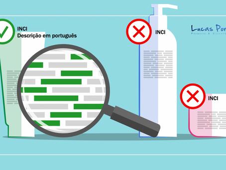 ANVISA obriga que ingredientes na rotulagem de cosméticos seja em português