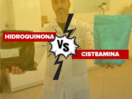 Cisteamina vs Hidroquinona