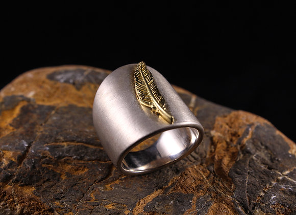 Wholesale Nature Feather Ring