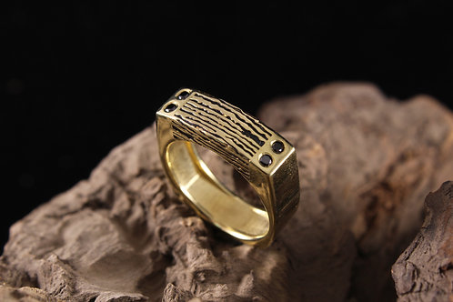 Rectangle Top Wood Grain Ring