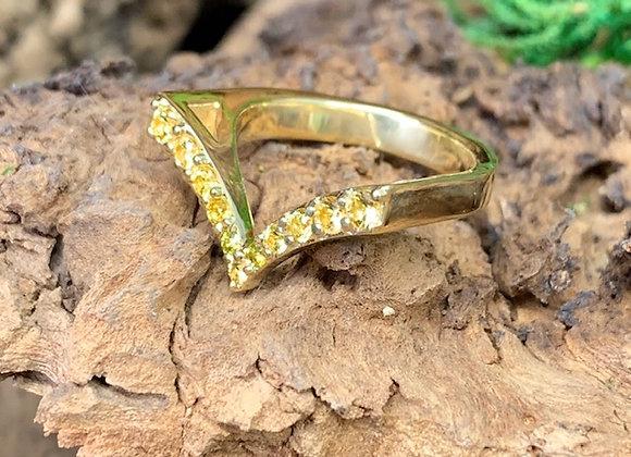 Wholesale V - Stack Ring 18ky