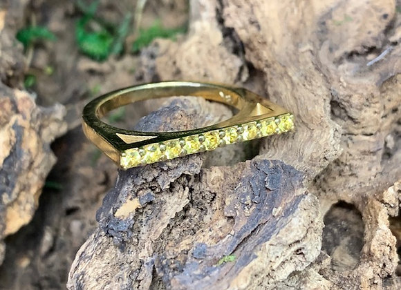 Wholesale Line Stack Ring 18ky