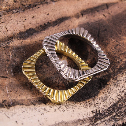 Grooved Square Stack Rings