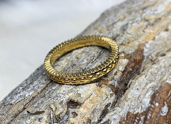 Wholesale Beaded Yellow Stack Ring 18ky