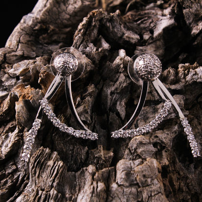 Cluster Earrings featuring Swag and Line Diamond Jackets