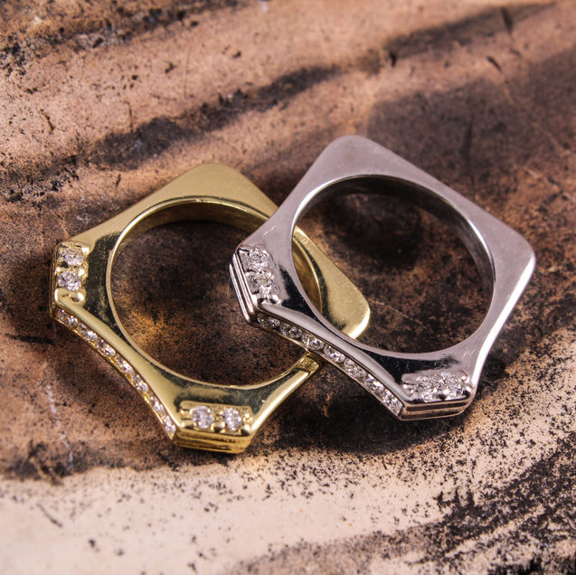 Angled Stack Rings