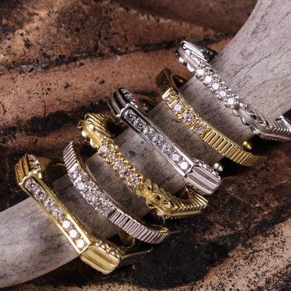 Square Stack Ring Set