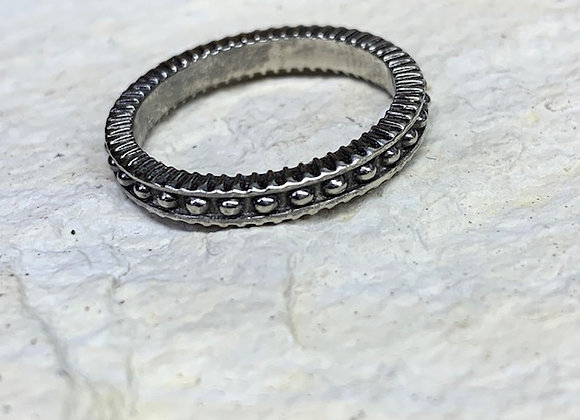 Wholesale Beaded Black Stack Ring 14kw