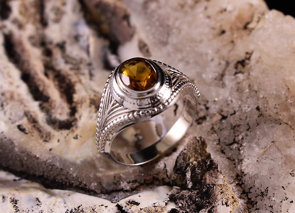 Antique Oval Bezel Set Ring