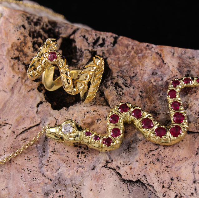 Snake Pendant and Ring