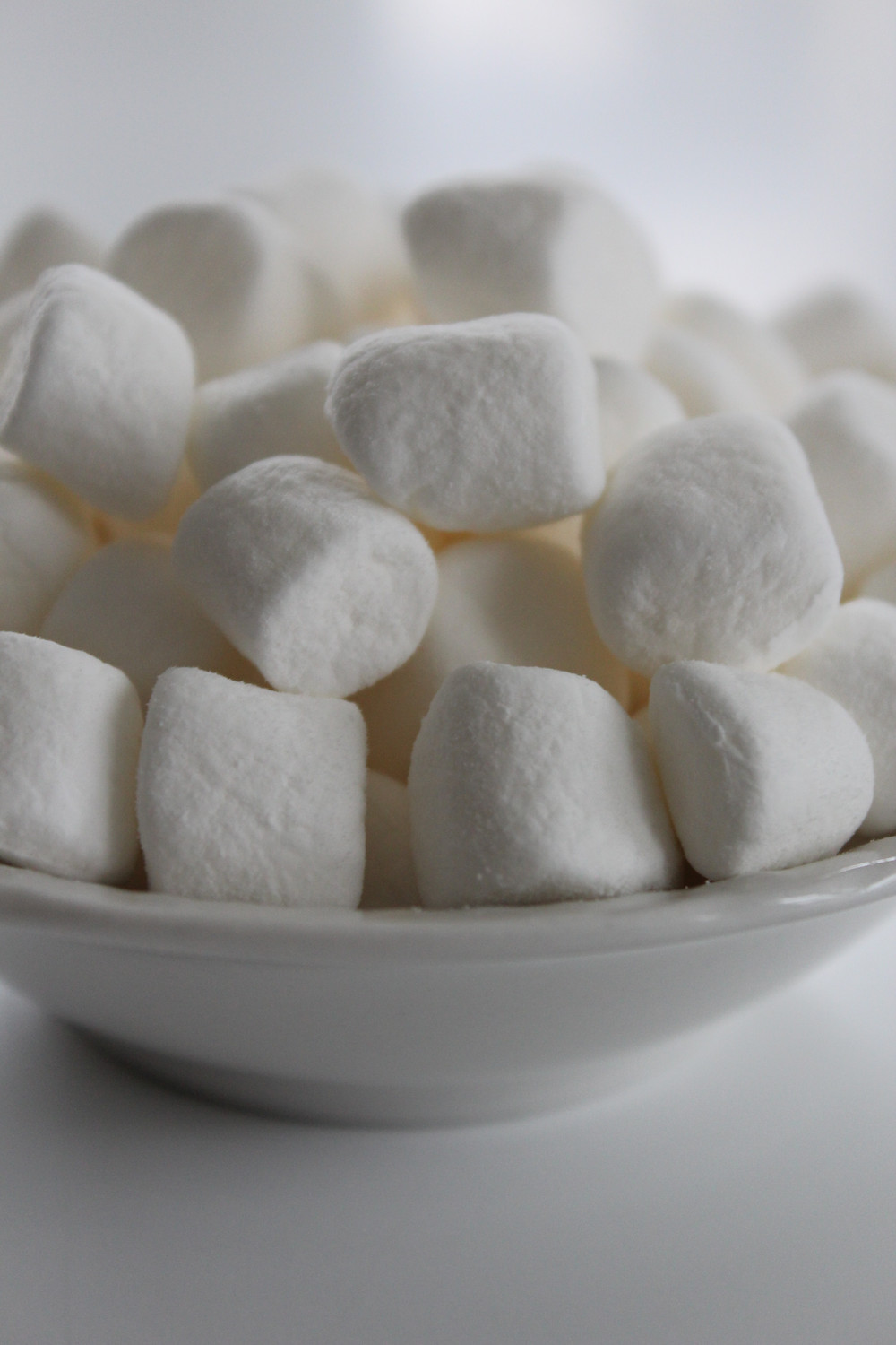 Plate of marshmallows