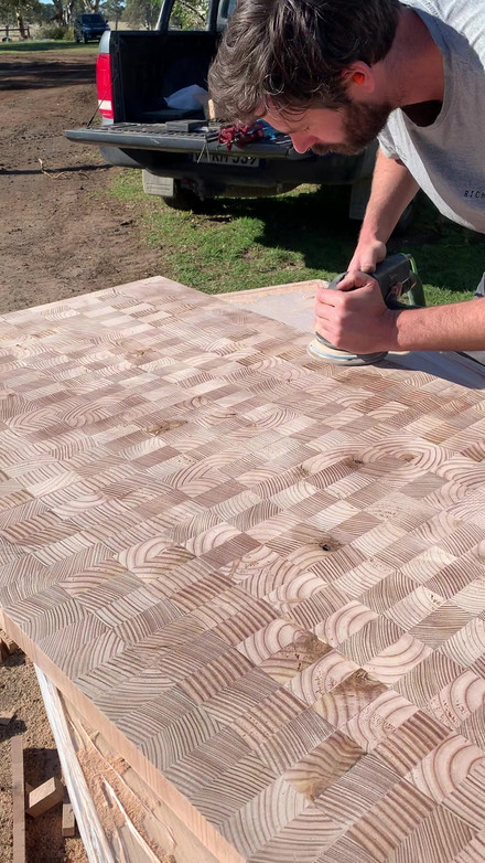 Making the kitchen bench