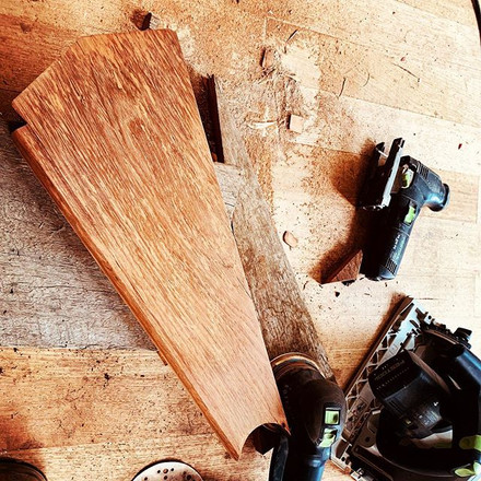 Reclaimed Redgum timber stair treads for