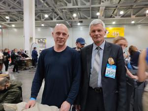 с Сергем Швечковым - лучшим хендлером чау-чау