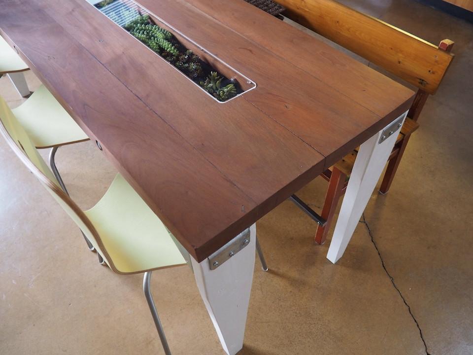 garden feast table