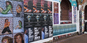 Fly posters across london for Ella Eyre. Creative Direction by Daisy Deane.