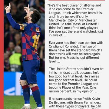 Wayne Rooney on Messi
