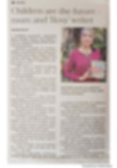 Article done about the book in the Sunday Tribune Newspaper - South Africa