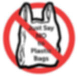 Picture of a sign showing No to plastic bag. The bag had the word: 'Just Say NO to Plastic Bags'