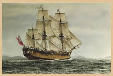 Picture of a Ship on rough seas. Because of the strenght and durability as a fabric and cord Hemp was used almost exclusively in the sails and rigging on the ships that left Europe to discover the world around the 1500's