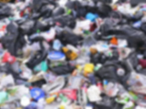 Rubbish - loads of black plastic bin bags as well as tons of rubbish - plastic dishes, plastic containers etc.