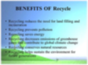 Picture shows the benefits of recycle -