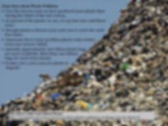 Picture of a mountain of rubbish i then added some facts about Plastic Pollution