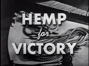 Picture says 'Hemp for Victory' which was promoting the movie 'Hemp for Victory' during 1942's