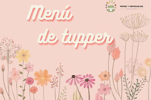 Menú de primavera de tupper