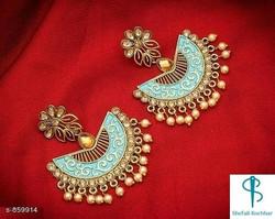 Stunning Kundan and Pearl Chandbalis  Ma