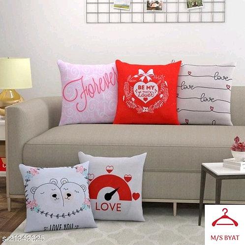 Printed Love Cushiom Covers
