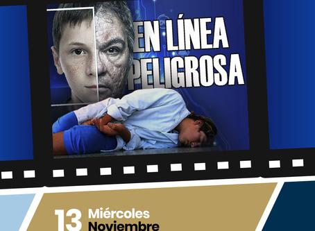 """Proyección del Cortometraje """"EN LÍNEA PELIGROSA"""""""