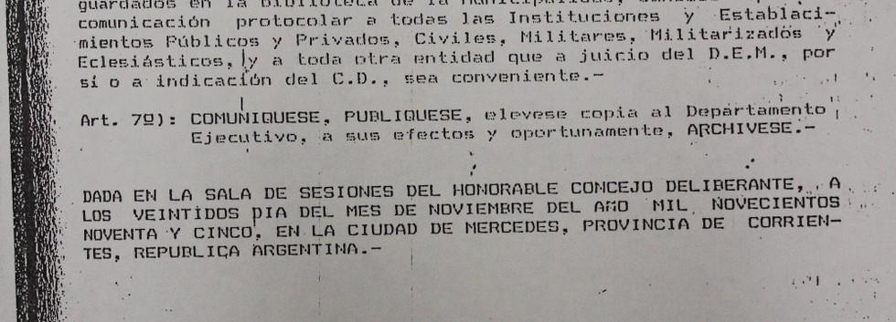 Ordenanza Nº 324/95